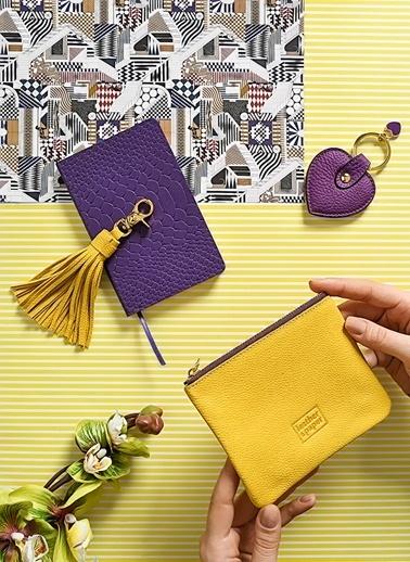 Leather & Paper Deri Mini Çanta Sarı